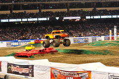 Monster truck at Angel Stadium. El Toro Loco in action during the Monster Jam competition Stock Images