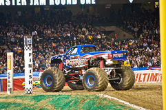 Monster truck at Angel Stadium. The Patriot ready for some action during the Monster Jam competition Stock Image