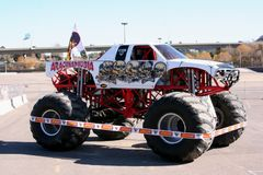 Monster truck - Arachnophobia. A popular monster truck, Arachnophobia, is on display before a performance at Qualcomm Stadium in San Diego that took place on Stock Photo