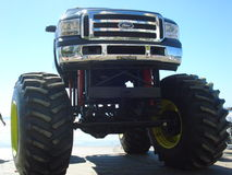 Monster truck on the beach Royalty Free Stock Photos
