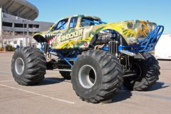 Monster truck called Shocker. A monster truck called Shocker is on display at Qualcomm Stadium in San Diego before a show that took place in January 2009 Stock Photo