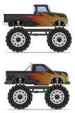 Monster truck car pickup vector illustration Royalty Free Stock Photography