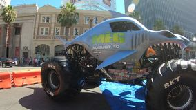 Monster truck de Hollywood almacen de video