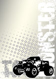 Monster truck dots metal backgroud. In the s stock illustration