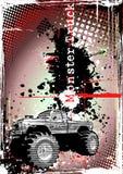Monster truck frame 2 Royalty Free Stock Photo