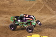 Monster truck - Gravedigger. Probably the most popular monster truck, Gravedigger, drives the track at Qualcomm Stadium in San Diego that took place on January Stock Image