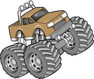 Monster Truck Illustration. Big Monster Truck Vector Illustration Stock Photography