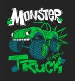 Monster truck Ilustração do vetor para cópias do t-shirt ilustração stock