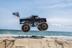 Free Monster Truck Jump Stock Photography - 108872082