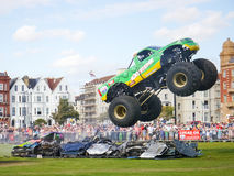 Monster truck jumping Royalty Free Stock Image