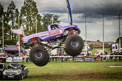 Monster truck mid air jump Royalty Free Stock Photography
