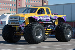 Monster Truck Obsession. LAS VEGAS NEVADA - March 22: Obsession Monster Truck on display for the Monster jam world finals at the Silver Bowl Stadium on March 22 royalty free stock images