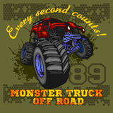 Monster Truck - off road badge Stock Photography