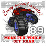 Monster Truck - off road badge Royalty Free Stock Photos
