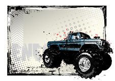 Monster truck poster Royalty Free Stock Image