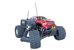 Monster truck with remote control near Stock Photo