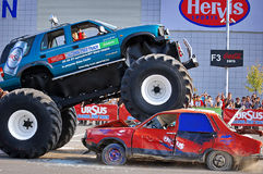 Monster Truck Showdown 02. Ursus Alcohol Free Track Challenge - Cluj Napoca 26.09.2009 Royalty Free Stock Photo