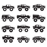 Monster truck vector set Royalty Free Stock Image