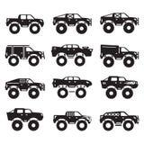 Monster truck vector set.  Royalty Free Stock Image
