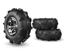 Monster truck wheels royalty free stock photo