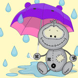 Monster with umbrella Royalty Free Stock Photos