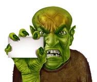 Monster-unbelegtes Zeichen Lizenzfreie Stockfotos
