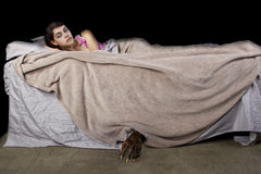Monster Under The Bed royalty free stock photos