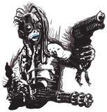 Monster varelse, med vapnen - Freehand, vektor royaltyfri illustrationer