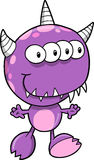 Monster Vector Illustration. Cute Purple Monster Vector Illustration Royalty Free Stock Photo