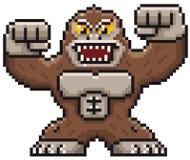 Monster. Vector illustration of Cartoon Monster - Pixel design royalty free illustration