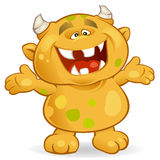 The Monster. Vector illustration of a cute monster Royalty Free Stock Photos