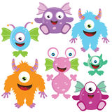 Monster vector illustration. Cute little monster vector illustration Royalty Free Stock Image