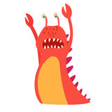 Monster vector. Kids cartoon toy, colorful cute character. Royalty Free Stock Image
