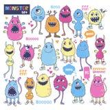 Monster vector set. Stock Image