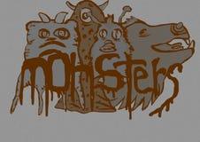 Monster vintage image Stock Image