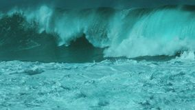 Monster Waimea bay closeout set wave stock images