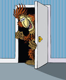 Monster in the Wardrobe Royalty Free Stock Photos