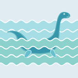 Monster in wave Royalty Free Stock Photo