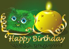 Monster wishes happy birthday Stock Images