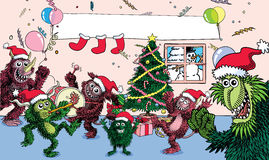 Monster Xmas Royalty Free Stock Images