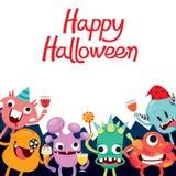 Monster-Zeichentrickfilm-Figur in Halloween-Partei Lizenzfreies Stockfoto