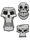 Monster and zombie skulls Royalty Free Stock Image