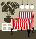 monstera deliciosa кресла иллюстрация штока