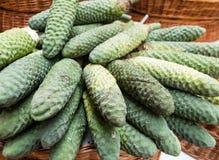Monstera deliciosa esotico della frutta in Madera Fotografia Stock Libera da Diritti