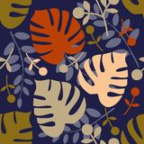 Monstera seamless pattern Stock Photos