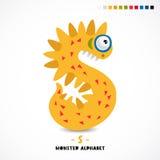 Monsteralfabet De brief s stock illustratie
