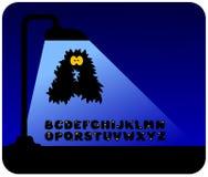 Monsteralphabet Stockbild