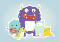 Monsterbeeldverhaal Royalty-vrije Stock Fotografie