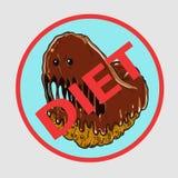Monsterdonut lizenzfreie abbildung