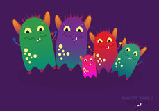 Monsterfamilienillustration Stockfoto